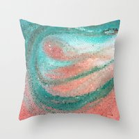 madonna Throw Pillows featuring Marine Madonna by Catherine Holcombe