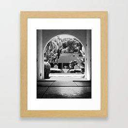 Through the Stables Framed Art Print
