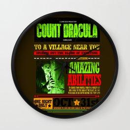 wanted poster Dracula Wall Clock