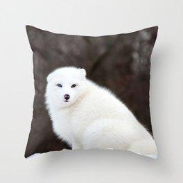Arctic Fox Throw Pillow