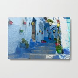 Colorful Flowerpots in Morocco Metal Print