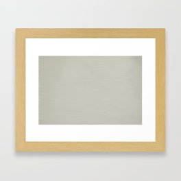 Soft Pale Creamy Beige Hand Painted Framed Art Print