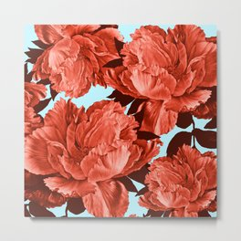 the big vermilion rose Metal Print