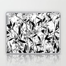 Wandering Wildflowers Black and White Laptop & iPad Skin