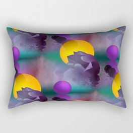 tulips and balls pattern Rectangular Pillow