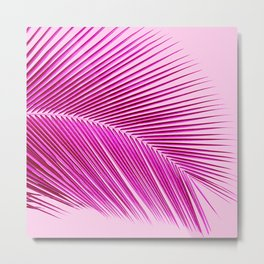 Palm leaf - tropical punch Metal Print