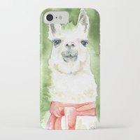 llama iPhone & iPod Cases featuring Llama by Susan Windsor