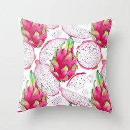Dragon fruit fresh and sliced Throw Pillow