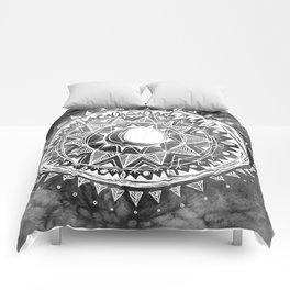 Grey Moon Mandala Comforters