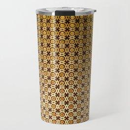 Gold and wood carving pattern Travel Mug