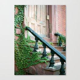 Boston Brownstone Canvas Print