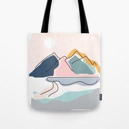 Minimalistic Landscape Tote Bag
