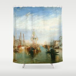 "J. M. W. Turner ""Venice, from the Porch of Madonna della Salute (The Grand Canal - Venice)"" Shower Curtain"