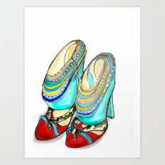 funky shoes Art Print