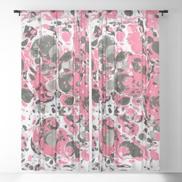 Marbling pink Sheer Curtain