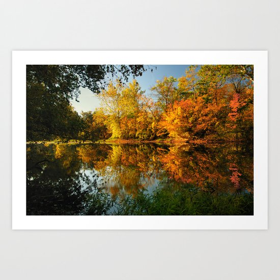 Fall on the Olentangy river Art Print