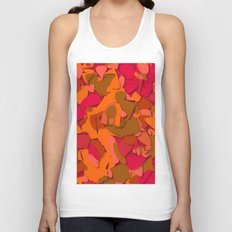 red camouflage Unisex Tank Top