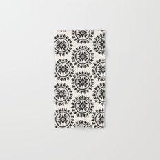Bohemian Medallions - Dark gray and cream Pattern Hand & Bath Towel