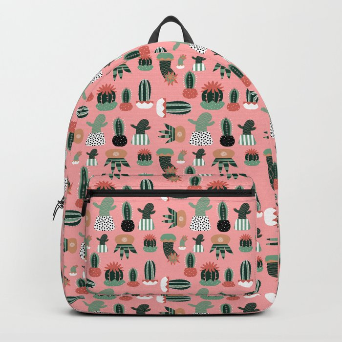 Succulents Pink Backpack