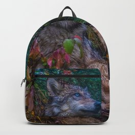 Wolf Pup in the Forest Backpack