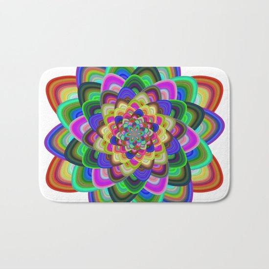 Hexagonal flower Bath Mat
