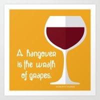 Dorothy Parker Wine Remark Art Print