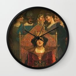 The Lonely Life - Hugh Goldwin Riviere Wall Clock