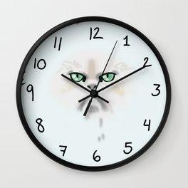 Fluffy nasty cat 2  Wall Clock