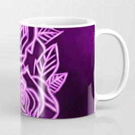 Neon Rose Coffee Mug