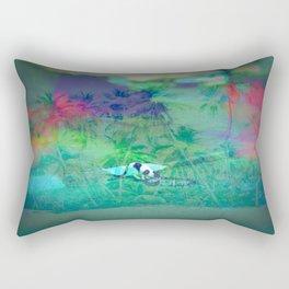 Cat Island in the City Rectangular Pillow