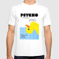 Psycho White Mens Fitted Tee SMALL