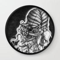medusa Wall Clocks featuring Medusa by MaridzaKimSarah