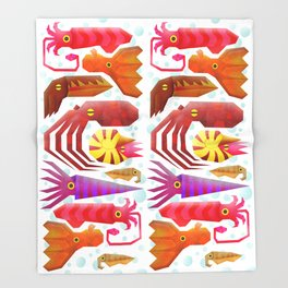 Cephalopods Throw Blanket