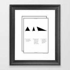 Geometric - Triángulos . (Spanish) Framed Art Print