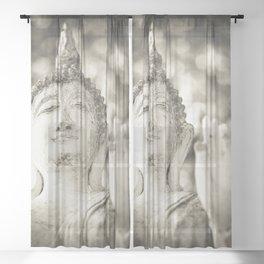 Buddha in Sukhothai Sheer Curtain