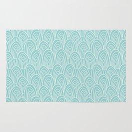 Blue Scribbles Pattern 09 Rug
