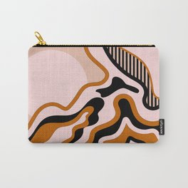 Beautiful Journey - Caramel and Cream Carry-All Pouch