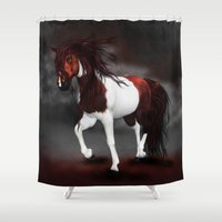 runner Shower Curtains featuring Night Runner by Moonlake Designs