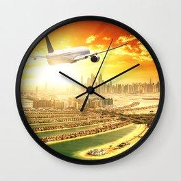 traveling in dubai Wall Clock