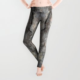 pine tree bark - scale pattern Leggings