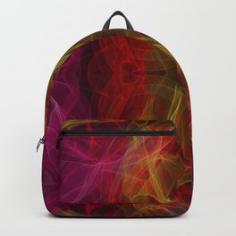 Abstract and symmetrical texture in the form of colorful smoke clouds. Backpack