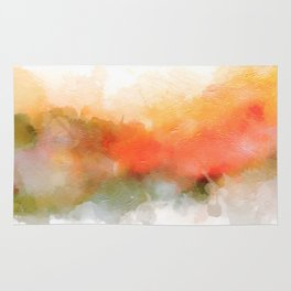 Soft Marigold Pastel Abstract Rug