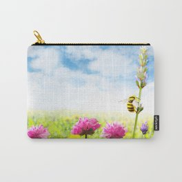 Bee at work in the summer garden Carry-All Pouch