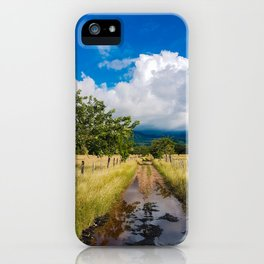 Colombian mud road. iPhone Case