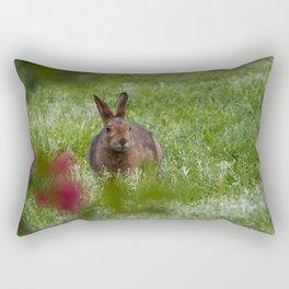 Meadow Bunny Rectangular Pillow
