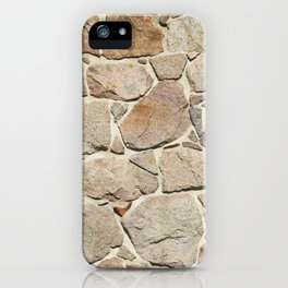 old quarry stone wall iPhone Case