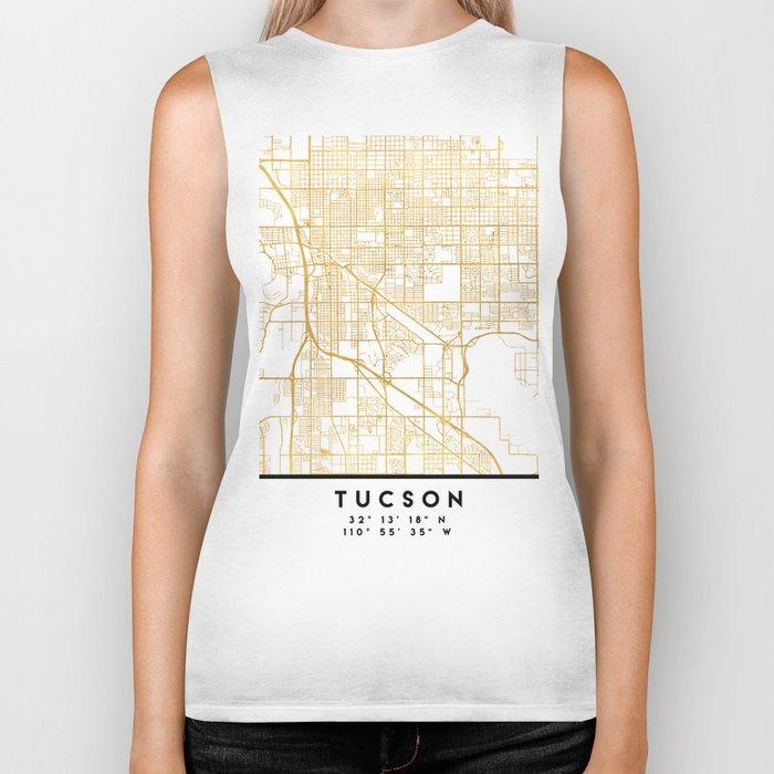 TUCSON ARIZONA CITY STREET MAP ART Biker Tank