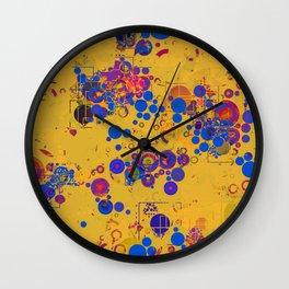 Vibrant Multi Color Abstract Design Wall Clock