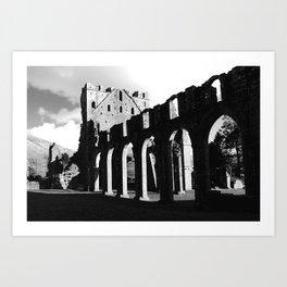 Llanthony Priory, Abergavenny, Wales Art Print