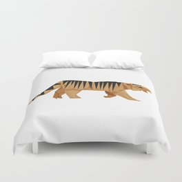 Origami Tiger Duvet Cover